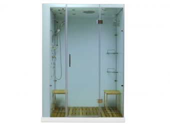 Contemporary Series Steam Shower M-6027 white