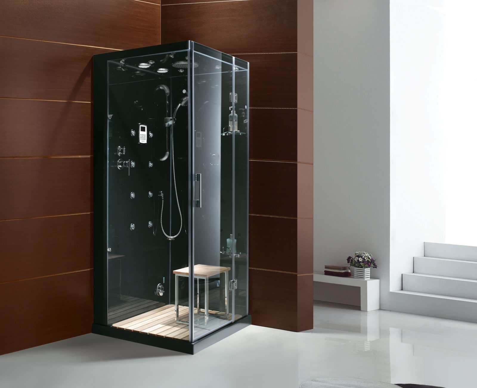 jupiter steam showers buy online at homeward bath jupiter steam shower in black