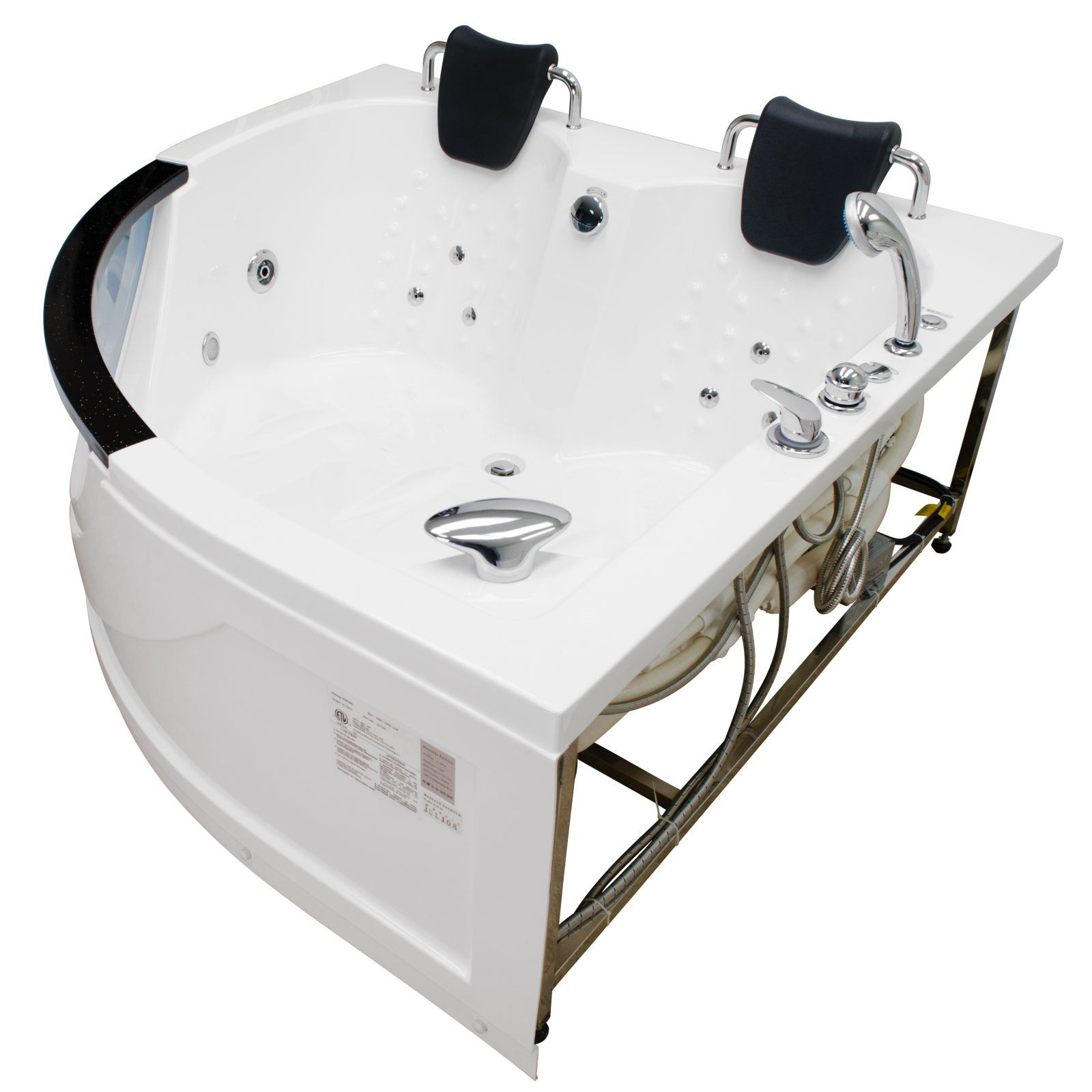 indoor new jetted s bathtub tub spa whirlpool person massage hydrotherapy hot p